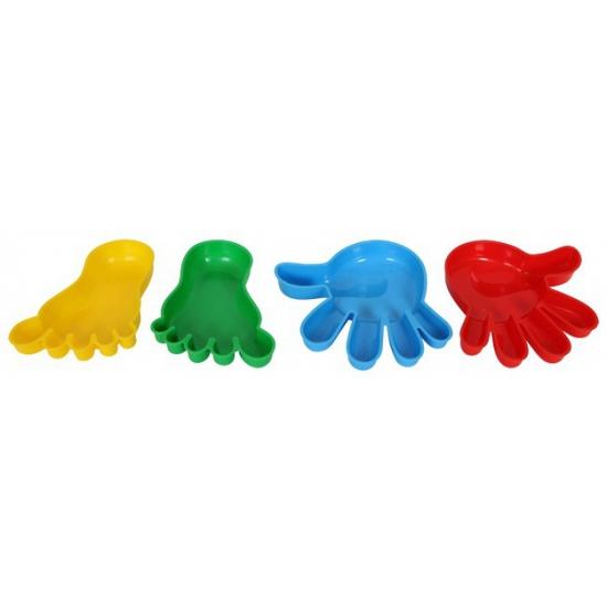 Zandbak vormpjes handen en voeten 4 stuks