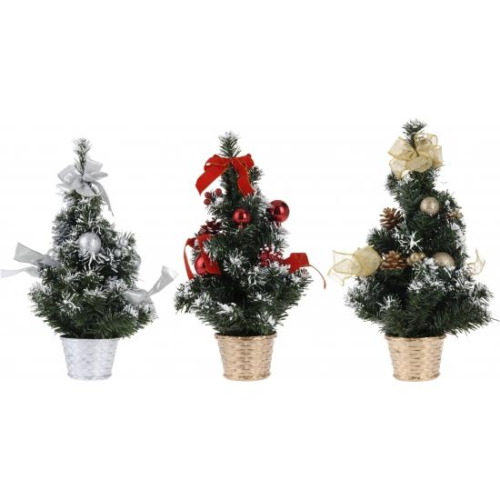 Zilveren deco kerstboom 40 cm