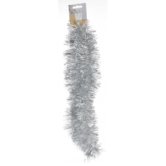 Zilveren folie kerstboom slinger 2 meter