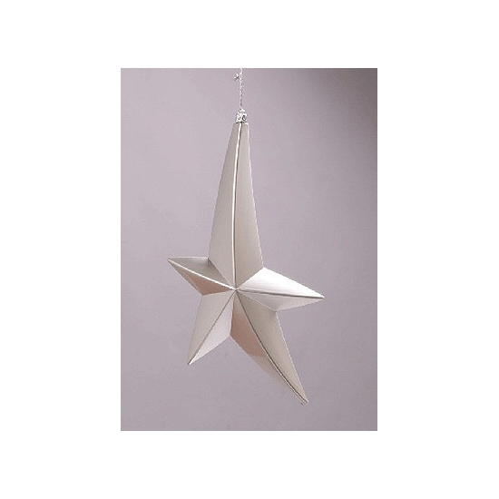 Zilveren sterren decoratie 30 cm