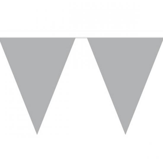 Zilveren versiering vlaggenlijn 10m