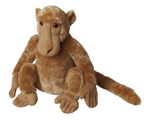 Zittende baviaan knuffel 30 cm