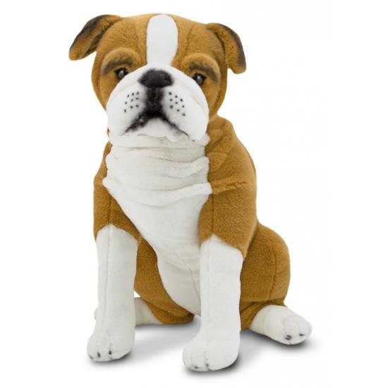 Zittende Engelse bulldog knuffel 53 cm