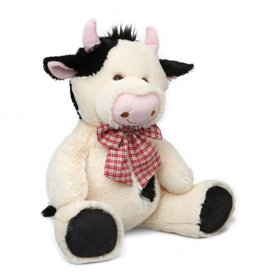 Zittende koe knuffel 30 5 cm