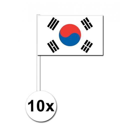 Zuid Korea zwaai vlaggetjes 10 stuks