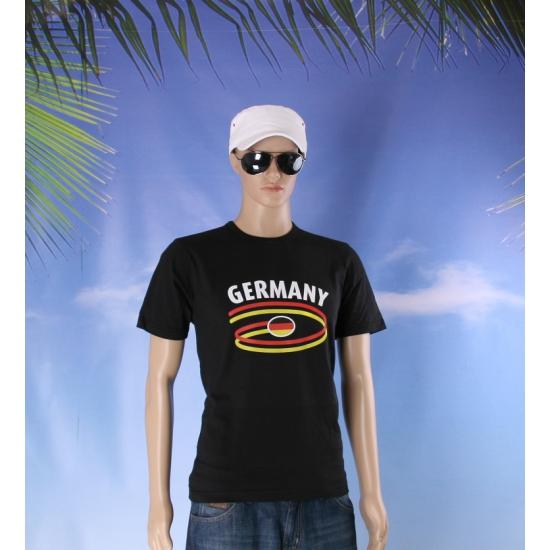 Zwart body fit heren shirt Germany