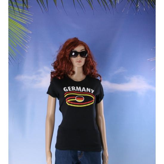 Zwart body fit shirt Germany voor dames