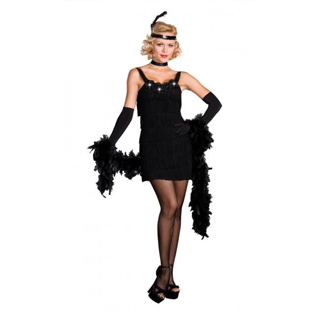 Zwart charleston jurkje dames