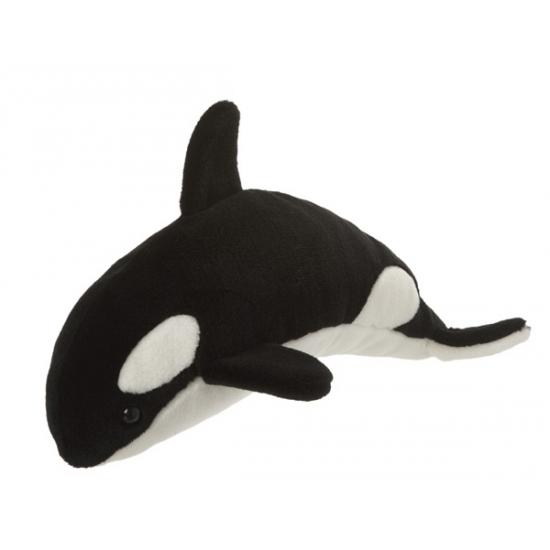 Zwart met witte orka knuffel 40 cm