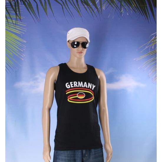 Zwart mouwloos shirt met Germany print