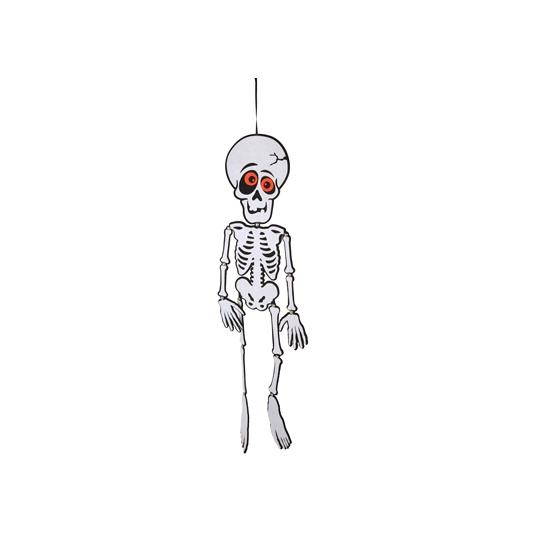 Zwart wit skelet van vilt 83 cm