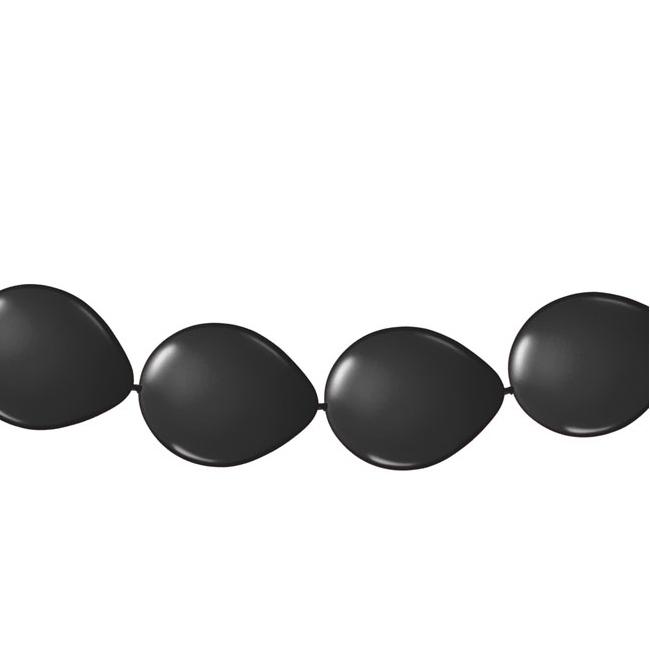 Zwarte ballonslingers 3 meter