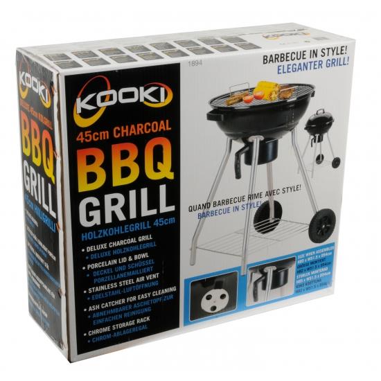 Zwarte barbecue rond
