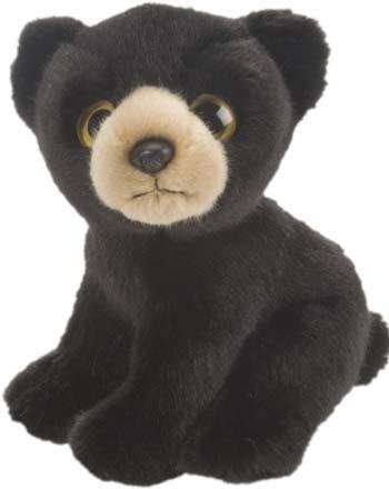 Zwarte beer knuffel 18 cm