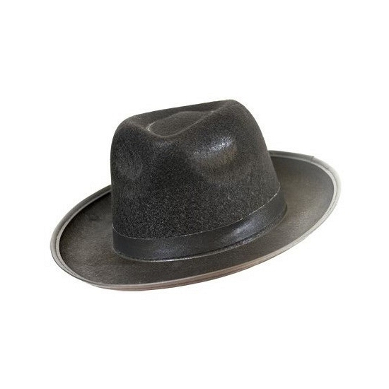 Zwarte Blues hoed vilt