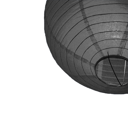 Zwarte bol lampion 25 cm