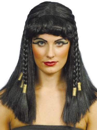 Zwarte Cleopatra pruik met vlechten