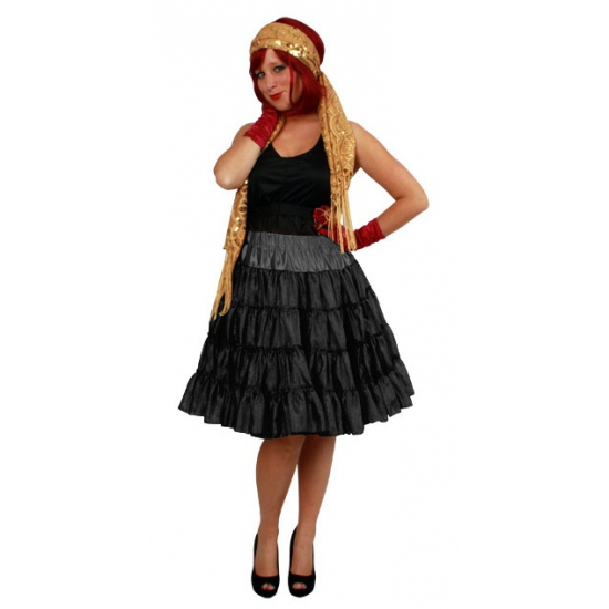 Zwarte dames petticoat 4 laags