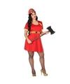 Grote maten brandweer kostuum voor dames