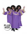 Grote maten gospel zanger kostuum