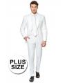 Grote maten heren kostuum wit