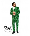 Grote maten pak met cannabis print