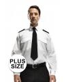 Grote maten piloten overhemd lange mouw