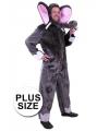 Grote maten pluche olifant kostuum voor volwassenen