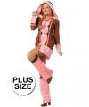 Grote maten roze eskimo kostuum voor dames