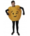 Knipoog emoticon kostuum voor volwassenen