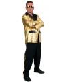Toppers grote maten kostuum 2 delig voor heren zwart goud