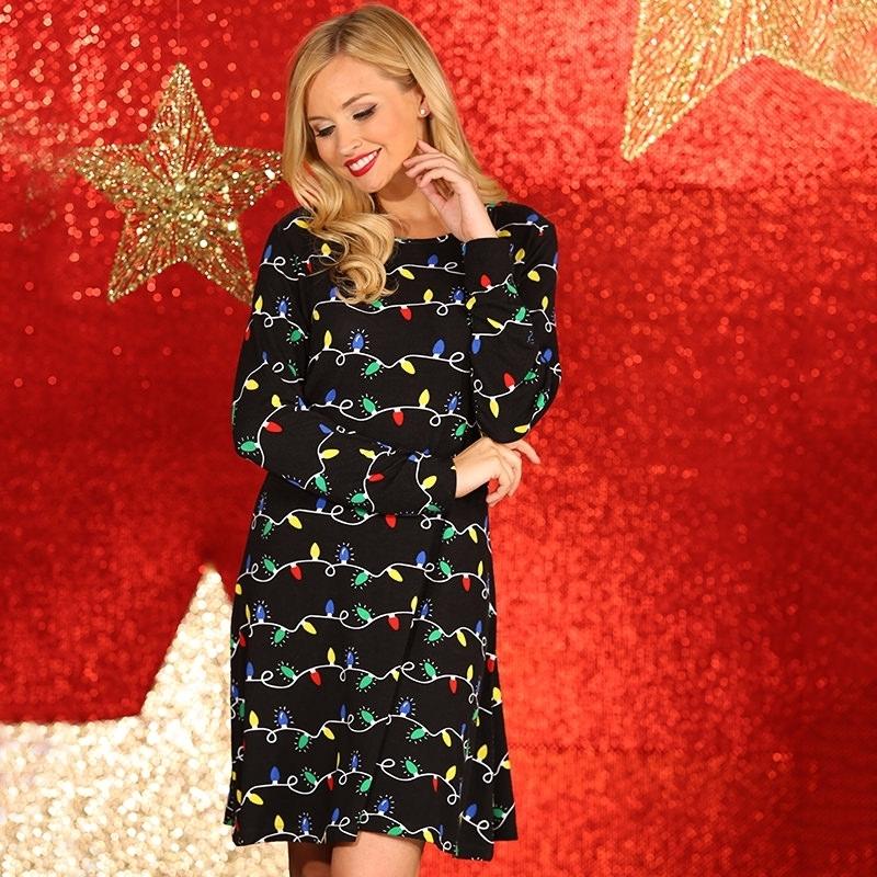 Kersttrui Dames Grote Maten.Kerst Sweater Jurk Zwart Voor Vrouwen Zeer Voordelige Grote Maten