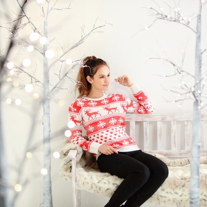 Kersttrui Dames Zwart.Nordic Patroon Kersttrui Dames Fair Isle Zeer Voordelige Grote
