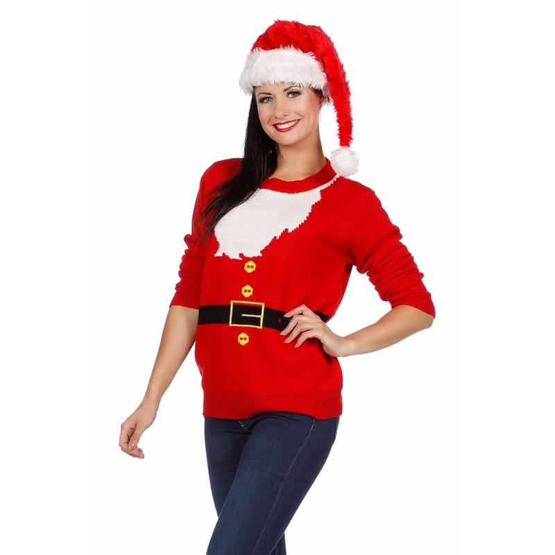 Kersttrui Voor Vrouwen.Kerst Kado Foute Kersttrui Kerstman Voor Dames Zeer Voordelige