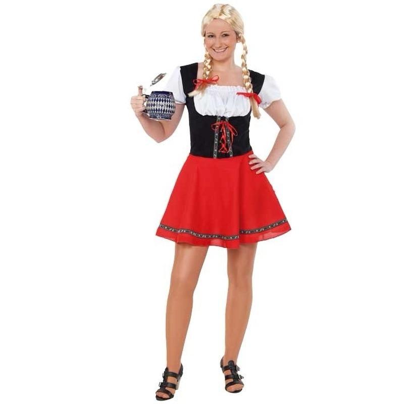 3c82ec8ee59889 Oktoberfest jurkje zwart met rood