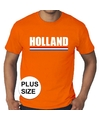 Oranje holland supporter grote maten shirt heren